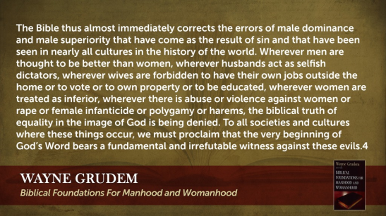 Biblical Foundations for Manhood and Womanhood Quote